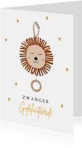 Felicitatiekaart zwanger muziekmobiel