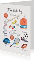 Fijne Vaderdag sport papa