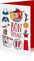 Fijne vakantie bon voyage franse strand vakantie