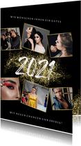 Firmen-Neujahrskarte Fotocollage Goldoptik