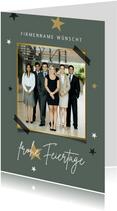 Firmen-Weihnachtskarte 'Frohe Feiertage' Foto