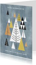 (Firmen-)Weihnachtskarte grafische Weihnachtsbäume