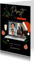 Firmen-Weihnachtskarte 'Prost auf Distanz'