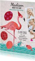 Flamingo Zomer Zwem Feestje