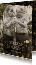 Foto-Einladungskarte zur goldenen Hochzeit