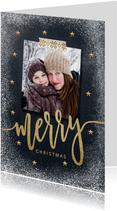 Foto kerstkaart met grappige tekst binnenkant