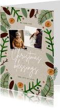 Foto-Weihnachtskarte 'Christmas blessings'