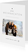 Foto-Weihnachtskarte schlicht & elegant
