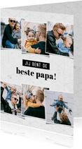 Fotocollage kaart jij bent de beste papa grafisch