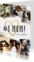 Fotocollage Karte Muttertag #1 MOM!