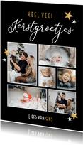 Fotocollage kerstkaart heel veel kerstgroetjes van ons