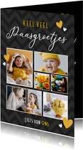 Fotocollage paaskaart - paasgroetjes met 6 eigen foto's