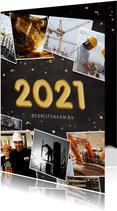 Fotocollage polaroids zakelijke kerstkaart jaartal 2021
