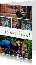 Fotocollage rechthoekig staand 5 foto's