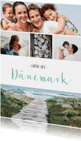 Fotocollage Urlaubskarte mit eigenen Fotos und Text