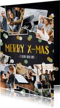 Fotocollage-Weihnachtskarte Merry X-Mas geschäftlich