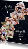 Fotocollage-Weihnachtskarte mit 12 Fotos