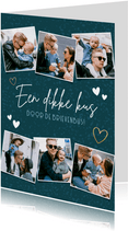 Fotocollage zomaar kaart 'dikke kus door de brievenbus'