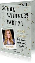 Fotoeinladung Schon wieder 39 Party