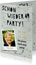 Fotoeinladung Schon wieder 49 Party