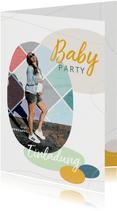 Fotoeinladung zur Babyparty - Junge