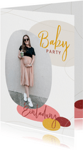 Fotoeinladung zur Babyparty - Mädchen