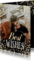 Fotokaart confetti grote foto Best Wishes