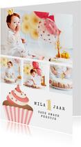 Fotokaart cupcake cake smash fotocollage