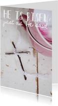 """Fotokaart """"He is risen"""""""