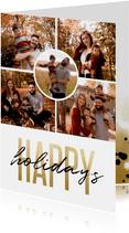 Fotokaart holidays goudlook fotocollage