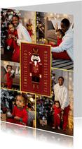 Fotokaart kerst notenkraker fotocollage vintage rood