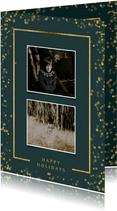 Fotokaart met twee foto's en goudlook kader