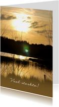 Fotokaart zonsondergang geel