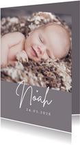 Fotokarte Geburt Farbe anpassbar