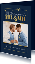 Fotokarte Glückwunsch Hochzeit Mr. & Mr.