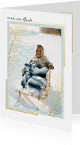 Fotokarte klassisches Design Goldzweig