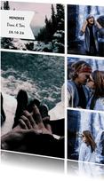 Fotokarte mit fünf Fotos und Textlabel