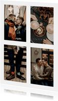Fotokarte vier Fotos in Hochformat