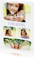 Fotokarte vier Fotos runde Ecken