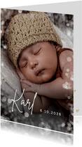 Fotokarte zur Geburt