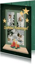 Fotoweihnachtskarte mit Fenster