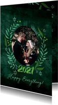 Fotoweihnachtskarte mit floralem Rahmen