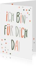 Freundschaftskarte 'Ich bin für dich da'