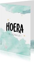 Fryske felicitatiekaart geboorte zoon