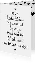Fryske kaart - foar de leafste broer