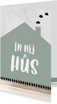 Fryske kaart 'In nij hûs' groen