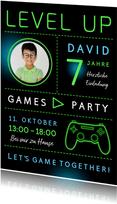 Gameparty-Einladung Kindergeburtstag Foto