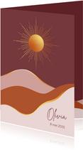 Geboorte - Goudlook zon met vlakken