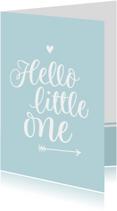 Geboorte - hello little one blauw