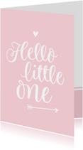 Geboorte - hello little one roze